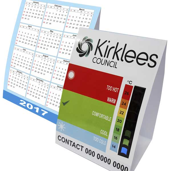Promotional desk calendars printed with your logo bh1 promotions