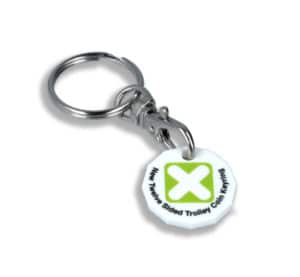BH0464-New 12 sided plastic trolley coin key ring
