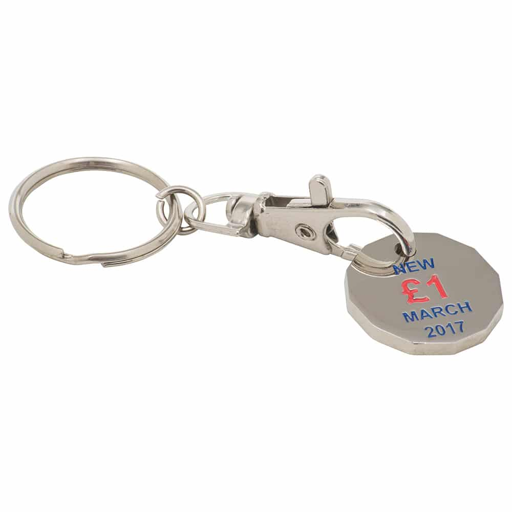 BH0454 - 12 Sided Trolley Coin Key Ring