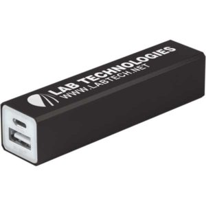 Summer Promotional Products - Hydra Powerbank Black Laser Engraved