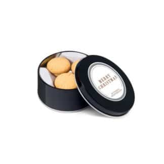 WC103988 Buttered Shortbread Treat Tin in Black